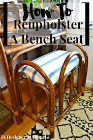 a how to tutorial with for reuphostering a bench seat i don t