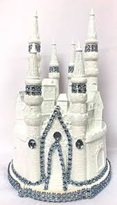 Amazoncom 9 White And Blue Fairytale Castle Cake Topper
