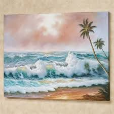 sweeping surf canvas wall art multi cool on beach scene canvas wall art with sweeping surf beach scene canvas wall art