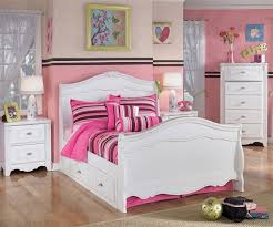 full size bedroom sets white. Enchanting Childrens Full Size Bed Kids Bedroom Furniture Sets White With Pink Pillow