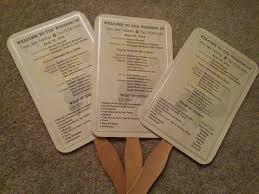 Paper Fan Wedding Programs Do It Yourself N Save Diy Wedding Program Fan
