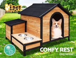 pet dog kennel kennels outdoor wooden pet house puppy extra large l outside
