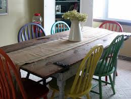 old kitchen furniture. Old Barn Door Recycled Into Kitchen Table Furniture