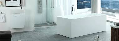 freestanding pedestal modern tub rectangular bathtub waterworks empire composite