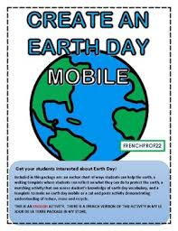 Earth Day Anchor Chart Create An Earth Day Mobile And Other Activities