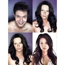 how to make a woman look like a man this guy can guys putting on makeup