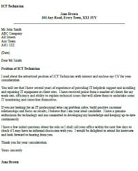 ICT Technician Cover Letter Example - iocver.org.uk