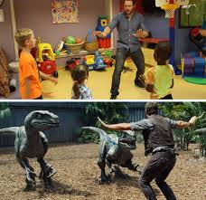 In jurassic world , movie awards nominee chris pratt plays owen grady, a dinosaur expert who casually trains pratt responded to the viral meme with his own brilliant parody made out of legos. Chris Pratt Recreates Jurassic World Meme With Kids Jurassic Park Funny Jurassic World Jurassic Park World