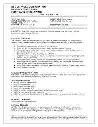 Sample Teller Resume Bank Teller Resumes Resume Description Best