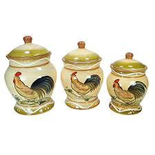 Designer Kitchen Canister Sets Dlusso Designs Ceramic Fruit 3 Piece Kitchen Canister Set
