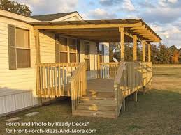 Front Porch Designs for Ranch Homes | Mobile Home Porches | How to Build A  Porch
