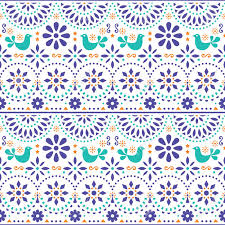 Mexican Pattern Unique Mexican Folk Art Vector Seamless Pattern With Birds And Flowers