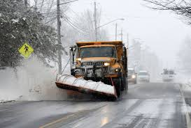 ultimate office google nyc compound. A Snowplow Clears The Road During Snowstorm, Friday, March, 2 2018, Ultimate Office Google Nyc Compound