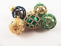 Beaded Christmas Ornaments Patterns Fascinating Beaded Christmas Ornament Pattern 48 Net Beading Beading Tutorial