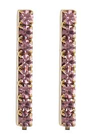 image of loren hope paige crystal bar stud earrings