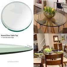 60 inch round glass table top 1 2 thick tempered beveled edge by