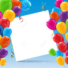 Happy Birthday Balloons Banner Color Glossy Happy Birthday Balloons Banner Background Vector