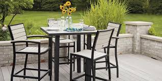 Gorgeous Bar Height Outdoor Dining Table Outdoor Bar Stools