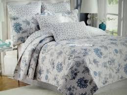 NICOLE MILLER 3pc KING QUILT SET Floral Blue Gray Toile Jacobean ... & NICOLE MILLER 3pc KING QUILT SET Floral Blue Gray Toile Jacobean COUNTRY NEW Adamdwight.com