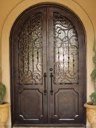 arched double front doors.  Arched Wrought Iron Glass Front Door  019Wrought Iron Front Doors_Double Arch  Doors_Wrought And Arched Double Doors O