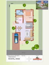 15 x 40 duplex house plan north facing house plans