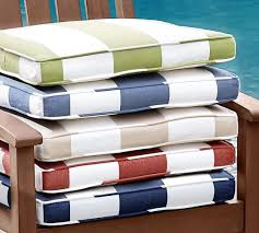 outdoor dining chair cushions. Wonderful Outdoor Dining Chair Cushions In Piped Cushion Striped Sunbrella Pottery Barn