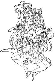 Small Picture Sailor Moon Really Like With Her Friend Coloring Pages COLORING