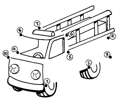 Dot To Dot Fire Truck Workshet Crafts And Worksheets For Preschool