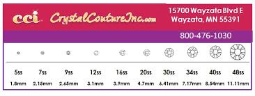 Encore Costume Couture Rhinestone Size Chart