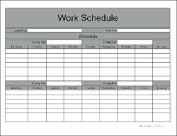 Time Schedule Table Letter Weekly Management Template Excel
