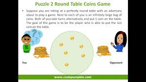 puzzle 2 round table coins game