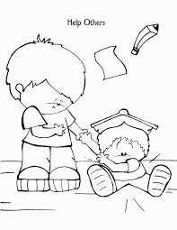 Bible Coloring Pages For Sunday School Lesson For Helping Others