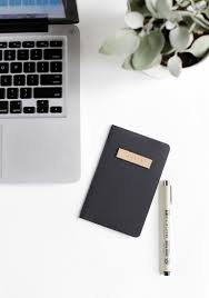 diy leather stamp notebook themerrythought