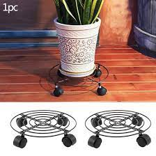 plant pot round wheels mover trolley