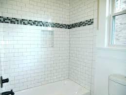 marble subway tile shower surround tiled tub white installation over