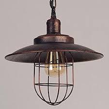 rustic pendant lighting. Kiven Iron Mini Pendant Light Vintage Style Cage Retro Lamp Rustic Lighting