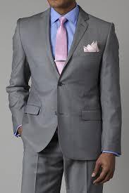 Black Suit Light Grey Tie Grey Suit Light Blue Shirt Pink Tie Light Grey Suits
