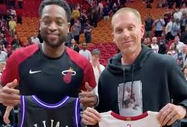 Image result for dwyane wade on jason williams jersey swap