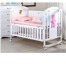 baby cot 100 cotton bedding sets bed rails curtain crib fence 5 pcs