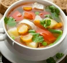 1 siung bawang putih, yang diiris tipis; Resep Dan Cara Memasak Sayur Sop Menggunakan Rice Cooker