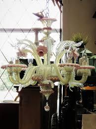 vintage murano opalescent art glass chandelier 4500 00