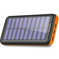 Solar Charger 24000mAh Portable Charger,PLOCHY Power Bank Phone charger with 3 Fast Charging USB Port and Dual Input(Lightning \u0026 Micro) External