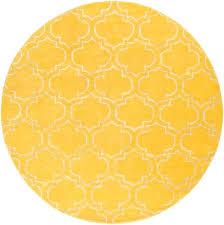 yellow circle rug small round signature