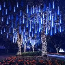 Météore Pluie Guirlandes Lumineuse, 8 Tubes 30CM 192 LED Eclairage Météore  Douche Lumière Etanche LED Pour Mariage Maison Arbre Jardin de Noël Parti  (Bleu) - CC-0492