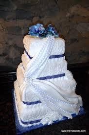 Fondant Wedding Cake In Royal Blue Picture Of Merrys Custom