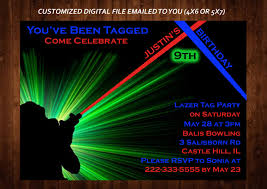 Free Laser Tag Invitation Template Printable Laser Party Invitations Download Them Or Print
