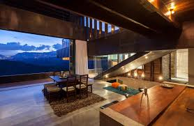 Dining Kitchen Open Plan Dining Kitchen Mountain Home With Incredible Views In