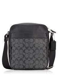 coach smooth medium black luggage bags
