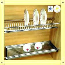 kitchen cabinets plate rack cabinet racks plates for on wooden kit cupboard organizer