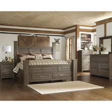 ashley furniture kenwood loft bedroom set. signature design by ashley juararo dark brown storage poster bed - overstock™ shopping great deals on beds furniture kenwood loft bedroom set l